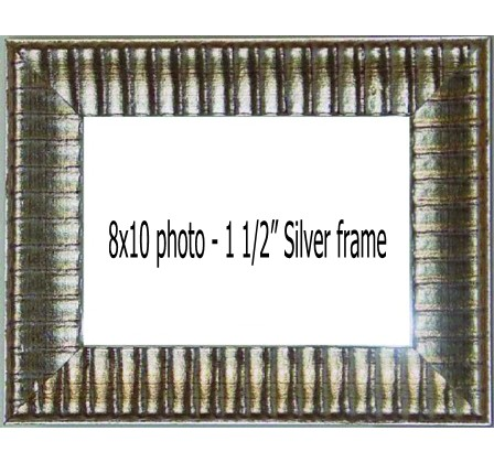 Holds 8x10 photos in SILVER frame