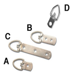 D Ring Strap Hangers ( 2 Hole Wide )  See 'B'