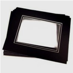 24 Pk Standard Double Black 8 x 10 for 5 x 7 image (4.5 x 6.5 opening)